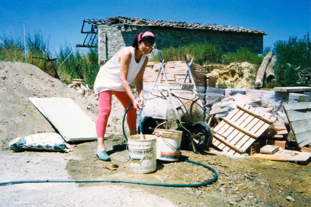 Elena working
