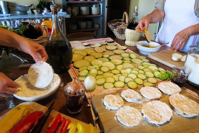 Fried zucchini preparation