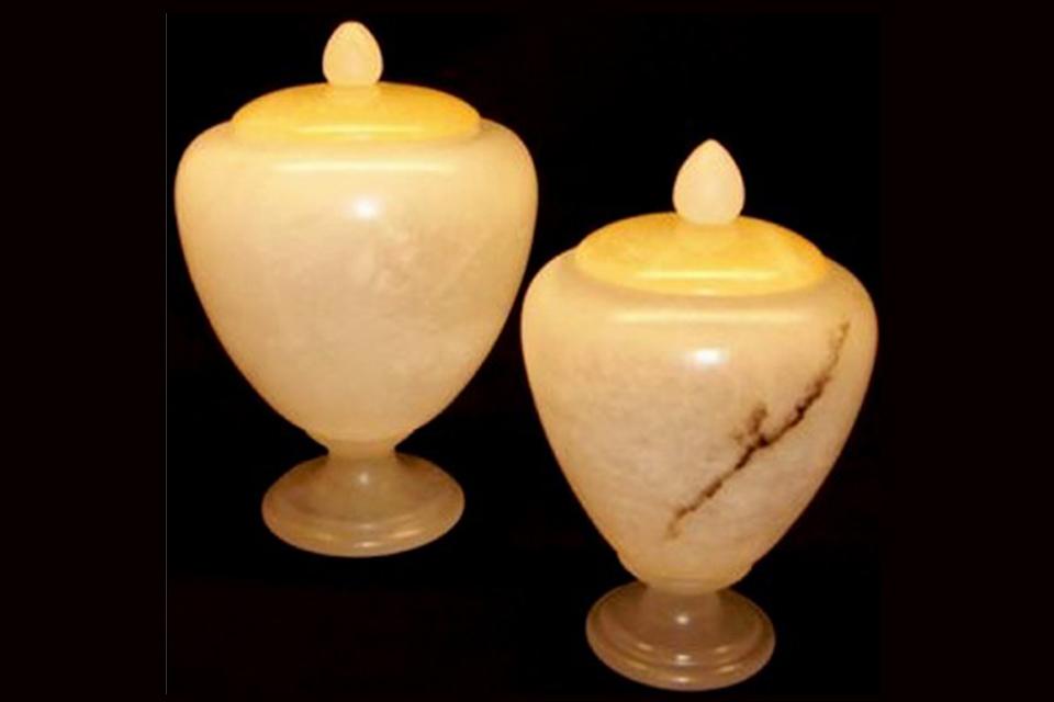 alabaster volterra vases