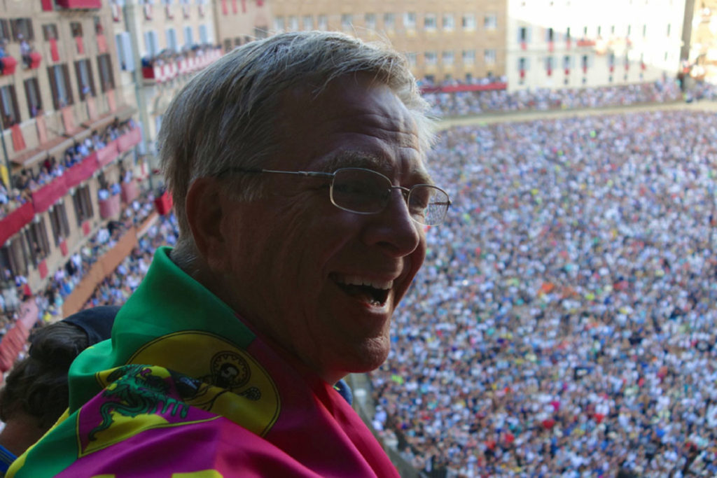 Rick Steves in Siena at the Palio
