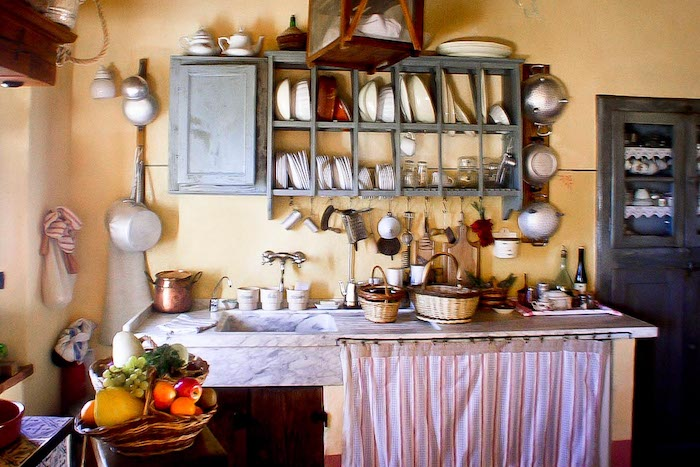 Borgo Argenina kitchen - bed and breakfast in Chianti Siena Tuscany