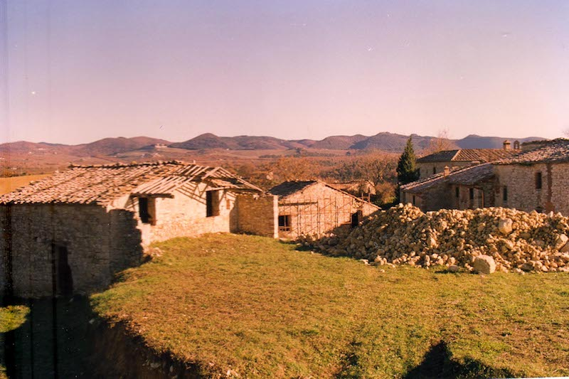 Borgo Argenina during renovation