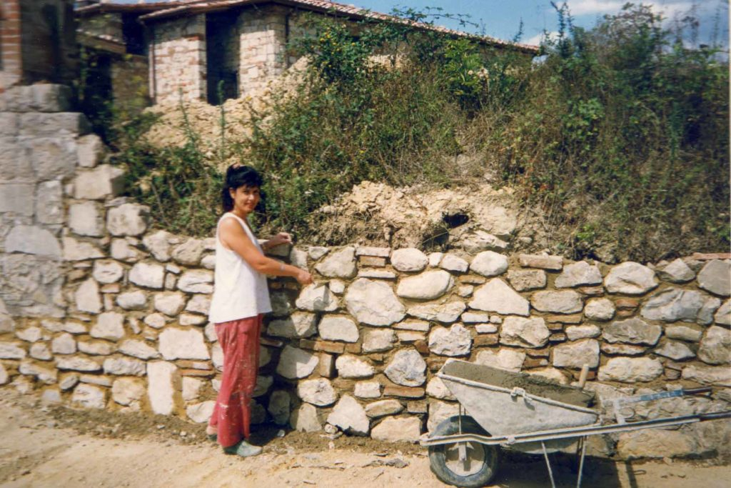 Elena nappa working to restore her Borgo Argenina