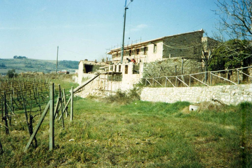 View on borgo argenina during renovation works