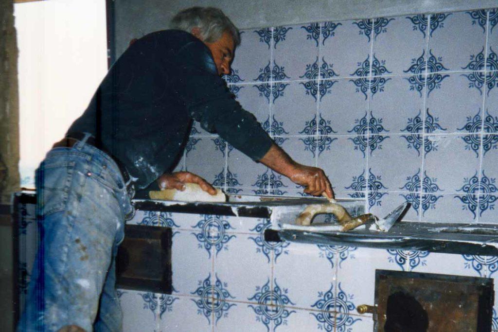 The maiolica kitchen