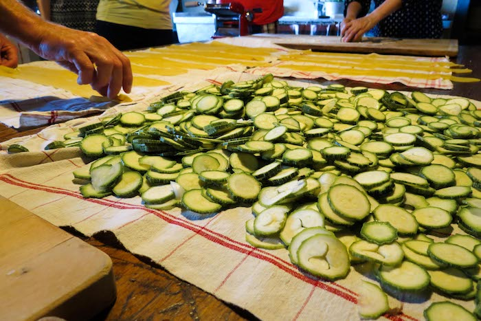 Chopped zucchini - cooking classes in Chianti Siena Tuscany