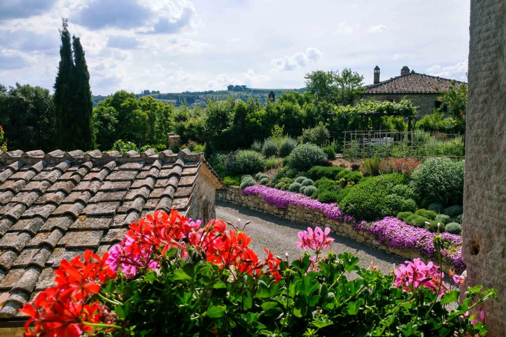 View from Suite Gardenia - bed and breakfast in Chianti Siena Tuscany