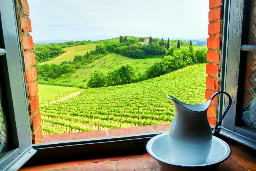 View from Double Fiory - bed and breakfast in Chianti Siena Tuscany