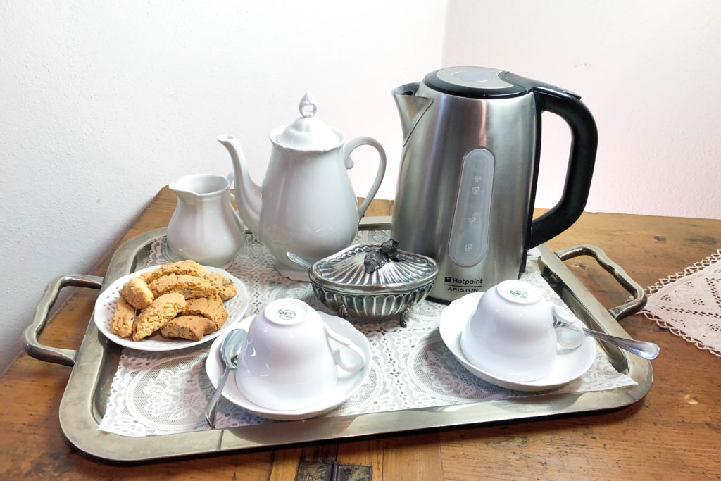 Breakfast in Double Viola room - bed and breakfast in Chianti Siena Tuscany