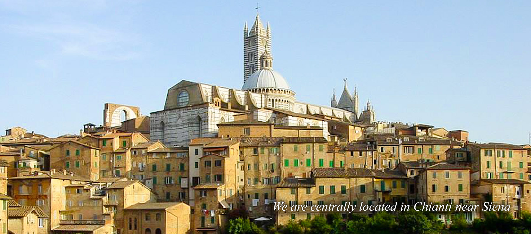 We are centrally located in Chianti near Siena