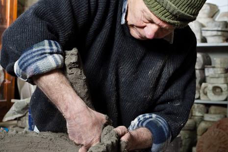 Man working terracotta