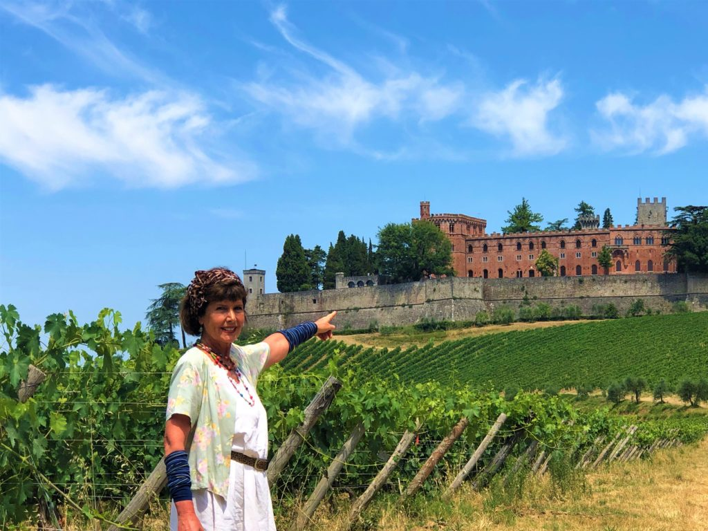 Elena Nappa at the final destination of the Tuscany Trek:  Castello di Brolio :: Borgo Argenina